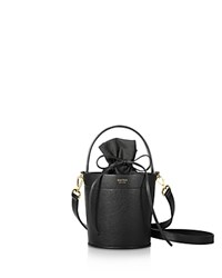 Mateo Madeline Leather Bucket Bag Noir Black Gold