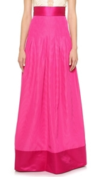 Temperley London Long Palais Skirt Bright Pink