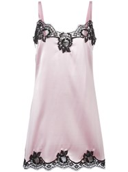 Dolce And Gabbana Lace Trim Camisole Pink Purple