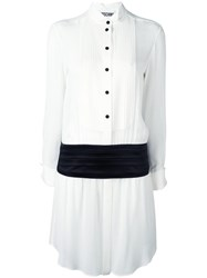 Moschino Tuxedo Shirt Dress White