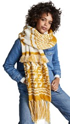 Free People Mile High Fringe Scarf Gold