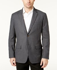 Tasso Elba Men's Checked Blazer Created For Macy's Grey Combo