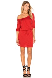 Lanston Scoop Mini Dress Red