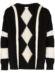 Saint Laurent Baja Zip Up Knit Cardigan Black