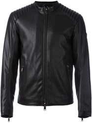 Armani Jeans Faux Leather Jacket Black