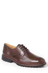Sandro Moscoloni Men's Brenton Wingtip Brown Leather