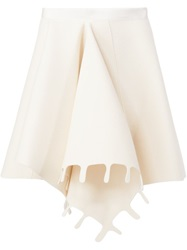 Maison Rabih Kayrouz Front Pleat Skirt White