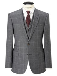John Lewis And Co. Hooper Prince Of Wales Check Tailored Suit Jacket Mid Grey