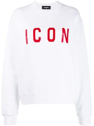 Dsquared2 Icon Sweatshirt White