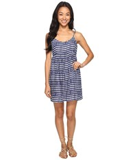 Roxy Retro Gold Dress Blue Depths Olmeque Stripe Women's Dress