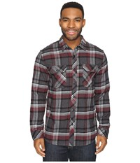 Rip Curl Woolford Long Sleeve Flannel Black Men's Long Sleeve Button Up