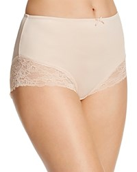 Fine Lines Full Figure Micro Stretch Galloon Lace Brief Mb073 Skin