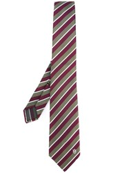 Alexander Mcqueen Striped Tie Pink Purple