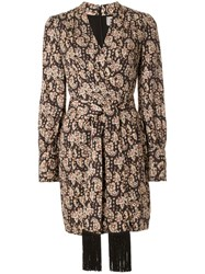 Rebecca Vallance Josephine Mini Dress Brown