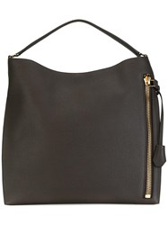 Tom Ford Zipped Detail Tote Brown