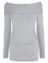 Coast Cecilia Bardot Knit Top Grey