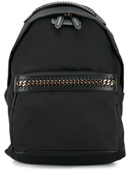 Stella Mccartney Chain Trimmed Backpack Black