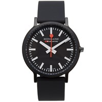 Mondaine Stop2go 41Mm Watch Black