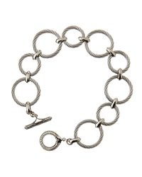 Alor Classique Twisted Sterling Silver Circle Link Bracelet