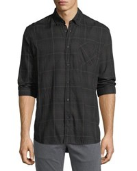 Billy Reid Wallace Plaid Sport Shirt Blackbrwn