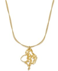 Charter Club Erwin Pearl Atelier For Gold Tone Molten Metal Pendant Necklace Only At Macy's