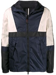 Low Brand Colour Block Hooded Jacket Blue
