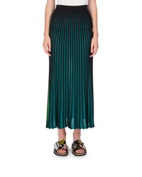 Kenzo Two Tone Jersey Maxi Skirt Midnight Blue