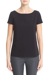 Lafayette 148 New York Women's Short Sleeve Jersey Tee