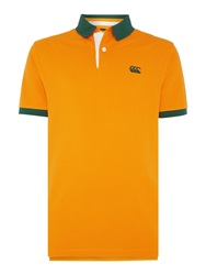 Canterbury Of New Zealand Country Pique Polo Yellow