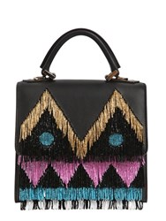 Les Petits Joueurs Mini Alex Disco Fringed Leather Bag