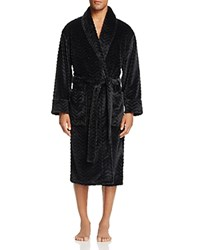Daniel Buchler Chevron Textured Robe Black