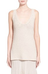 Women's Donna Karan New York Cashmere And Silk V Neck Knit Tank