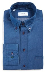 Eton Men's Slim Fit Denim Dress Shirt