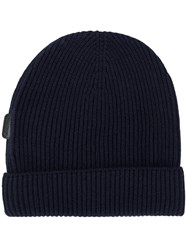 Tom Ford Cashmere Ribbed Beanie Blue