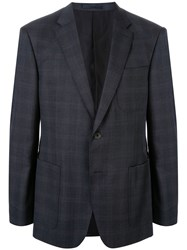 Kent And Curwen Faded Check Single Breasted Blazer 60