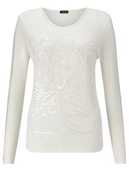 Gerry Weber Sequin Quilted Top Ivory