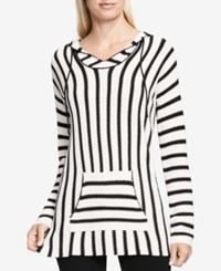 Vince Camuto Striped Hooded Sweater Antique White