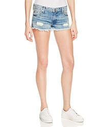 True Religion Joey Cutoff Denim Shorts In Vintage Destroyed
