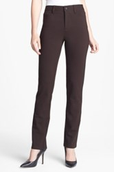 Nydj Five Pocket Stretch Ponte Skinny Pant Brown