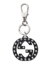 Gucci Stud Interlocking Gg Key Ring Charm Nero 1000 Nero
