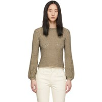 Chloe Beige And Black Knit Pullover