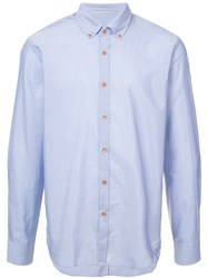 Homecore Long Sleeve Fitted Shirt Blue
