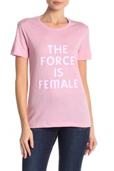 Rebecca Minkoff The Force Is Female Tee Pink Hot Pink