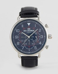 Ben Sherman Wb068ub Watch In Black Leather