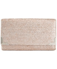 Style And Co. Straw Diane Clutch