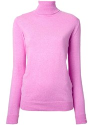 Cityshop 'City' Turtleneck Jumper Pink Purple