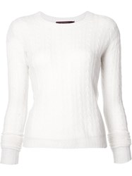Sies Marjan Cable Knit Jumper White