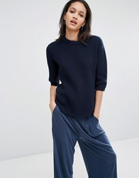 Just Female Ashley Light Weight Knit Jumper Navy