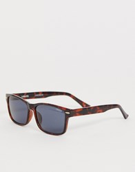 Levi's Square Frame Sunglasses In Tort Smoke Brown