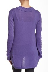 Cullen Hi Lo Wide V Neck Cashmere Sweater Purple